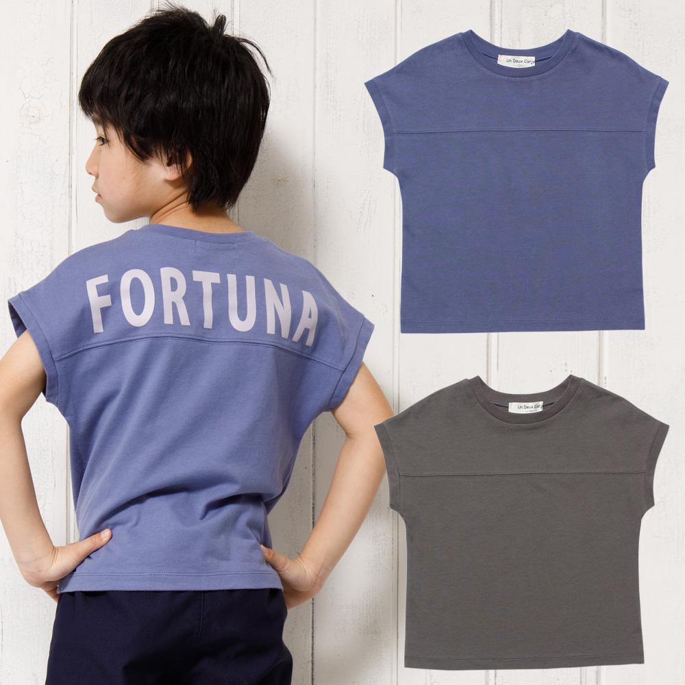 バックロゴプリントゆったりシルエットTシャツ