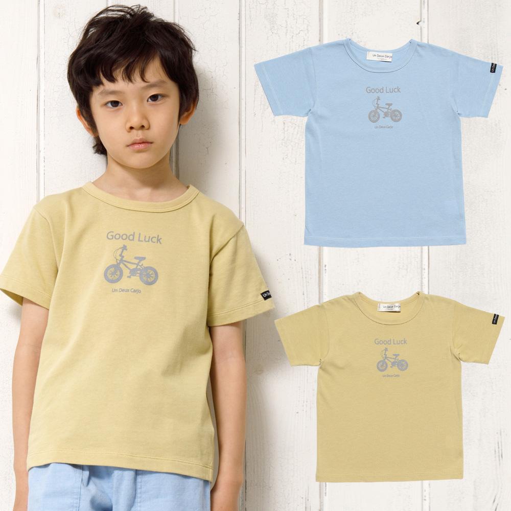 自転車プリント乗り物シリーズTシャツ