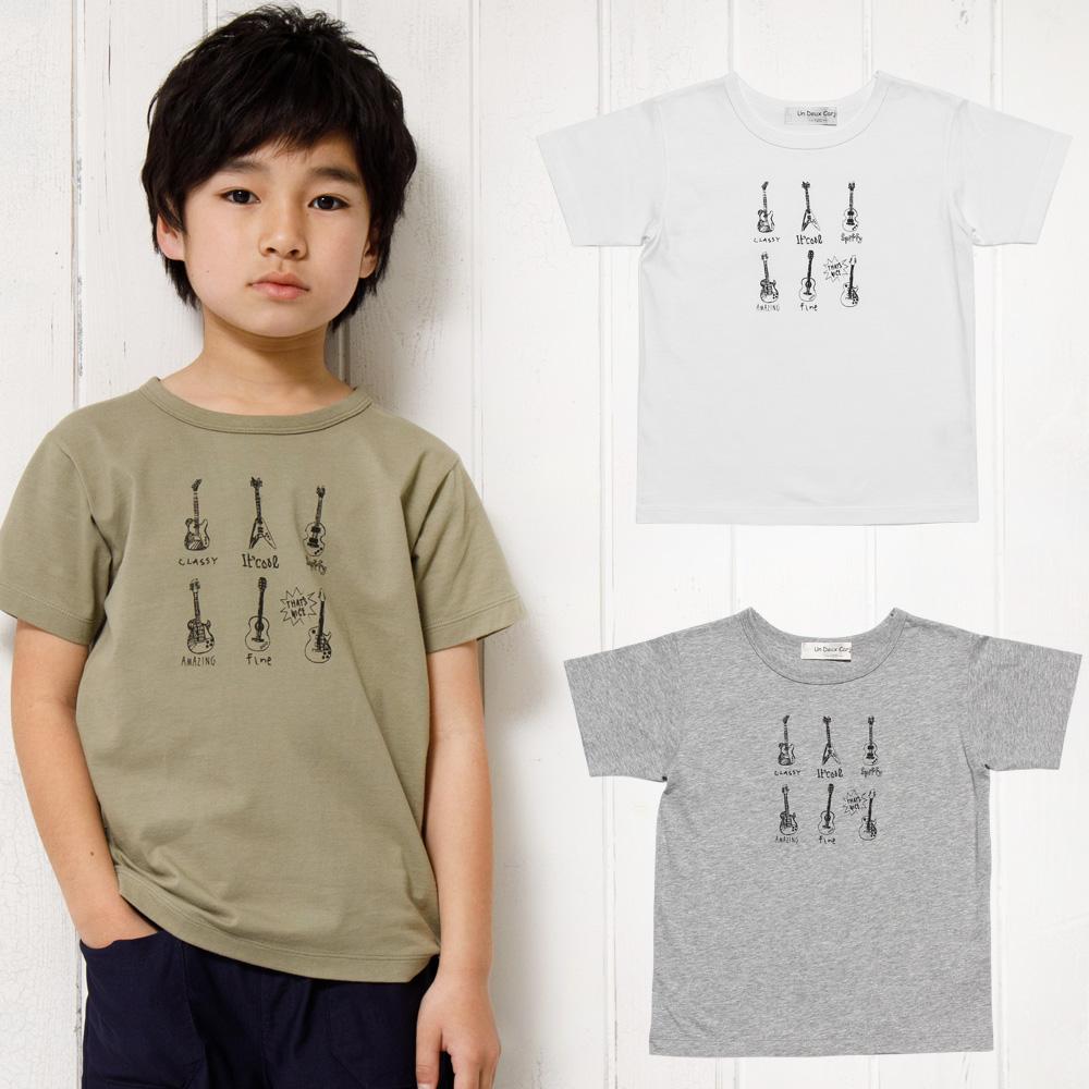 ギタープリント楽器シリーズTシャツ